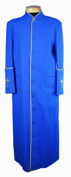 CLOSEOUT:  110. Men's Clergy Robe in Royal with Gold Trim