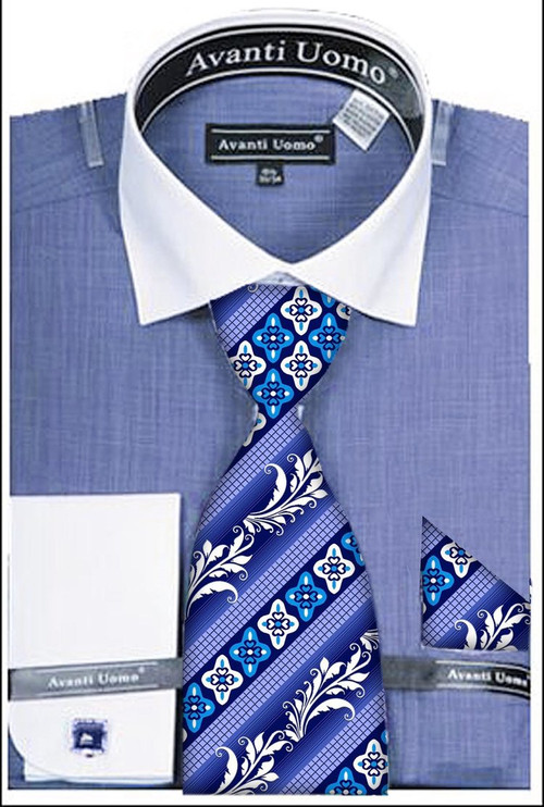 Mens Shirt And Tie Set