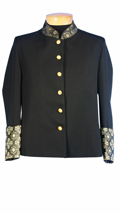 Ladies Clergy Jacket in Black