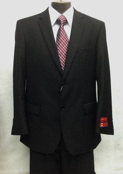 100% All Wool 2-Button Solid Suit By Mantoni