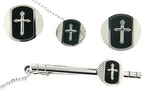 4-Piece cufflink set in silver