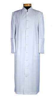 002.  Men's Clergy Robe In Solid White