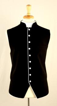 Clergy Vest In Black & White