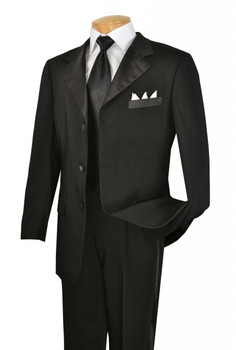 2-Piece 3-Button Formal Tuxedo In Black