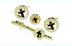 4d gold black cross