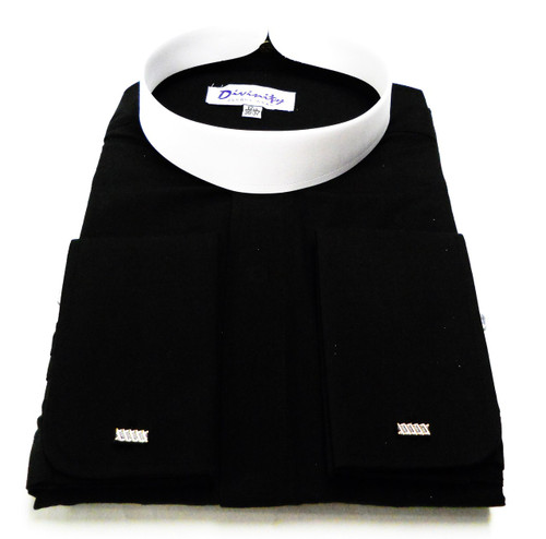 Men 39 S Banded Collar French Cuff Clergy Shirt Divinity