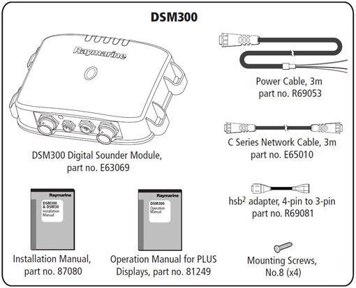 Raymarine DSM300 - What's in the Box