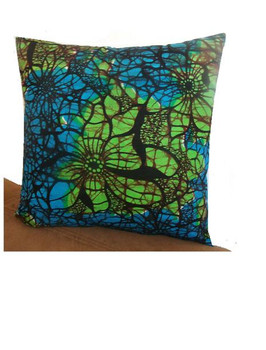 14x 14 Throw Pillow Cover: Spring Green