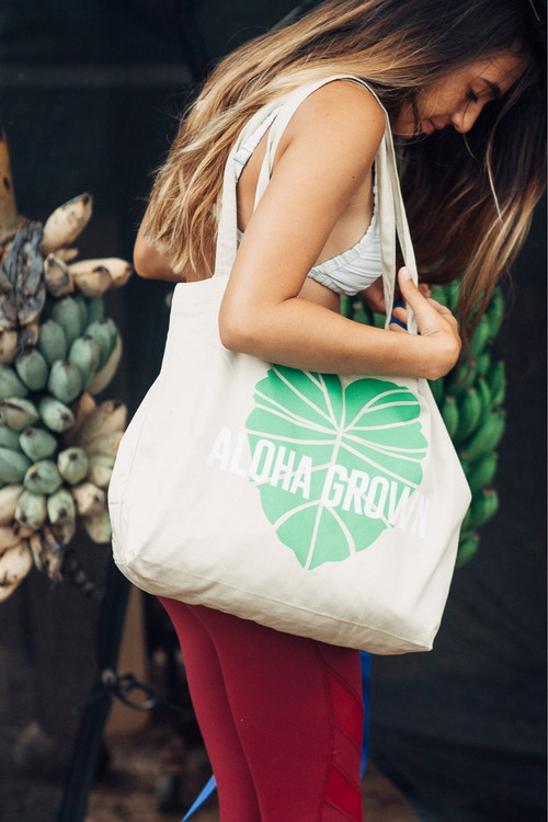 "Aloha Grown ""Kalo"" Tote Bag"