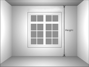 Width and height for drapery panel set for Window height from floor