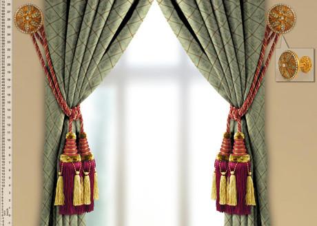 Victoria Tassel Tiebacks And Wall Medallions Set Roomsbeautiful Com