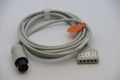 AAMI 6 Pin ECG TRUNK Cable - 5 Lead DIN Criticare Datascop Welch-Allyn