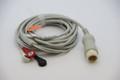ECG Cable EKG 8 pins 3 Leads Snap Philips H/P Viridia Merlin