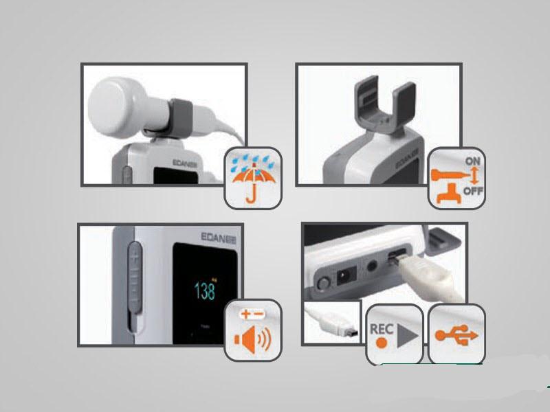 EDAN SD3 PRO FETAL/VASCULAR Doppler ,choice of 2/3/4/5/8MHZ PROBE. OLED color screen, li-ion rechargeable battery