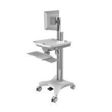 foot control computer trolley