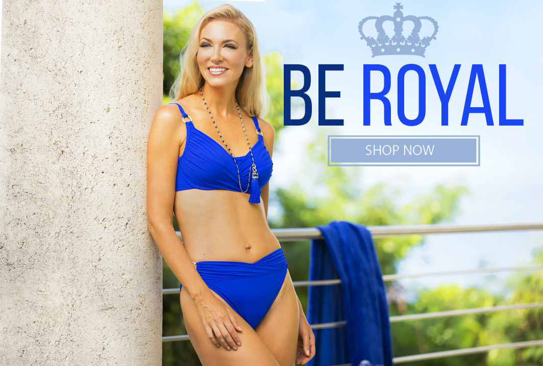 Royal blue swimsuits and more from Tara Grinna Swimwear