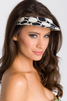 Black and White Lycra Covered Visor EY-501