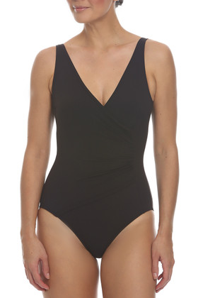 Brown Surplice Maillot BR-313