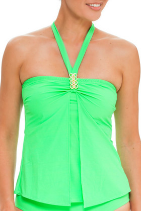 Green Loose Fit Tankini EN-144