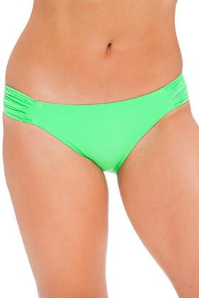 Green Ruched Tab Bikini Bottom EN-258