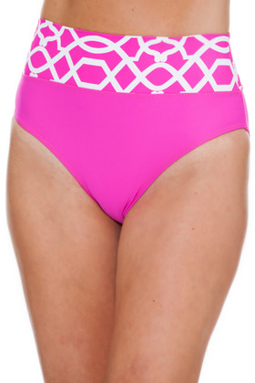 Pink and White High-Rise Pant PA-213