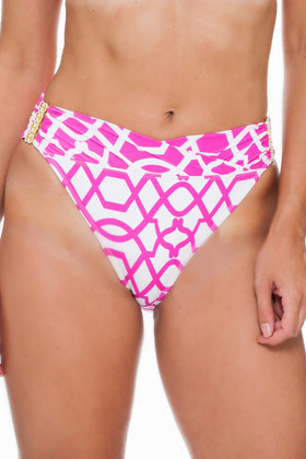 Pink and White Mid-Rise Pant PA-242