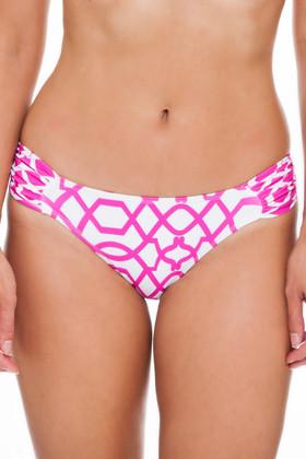 Pink and White Bikini Bottom PA-258