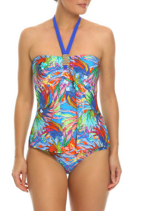 Floral Bandeau One Piece WI-344