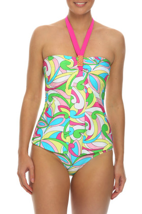 Floral Bandeau One Piece RA-344