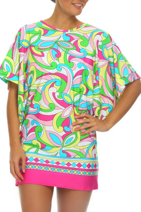 Floral Tunic Cover Up RA-435