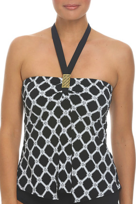 Black and White Loose Fit Tankini AN-144