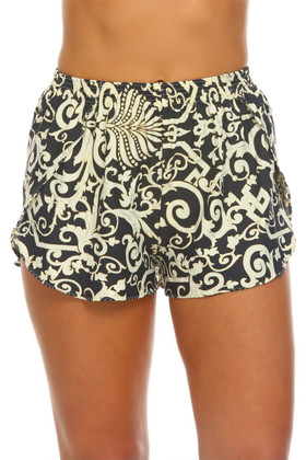 Gray and Bone Shorts Cover Up WH-461