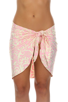 Pink and Cream Wrap Cover Up EF-403