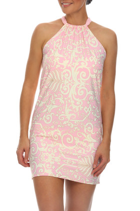 Pink and Cream Dress Cover Up EF-409