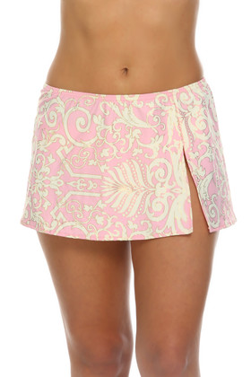 Pink and Cream Skirted Cover Up EF-412