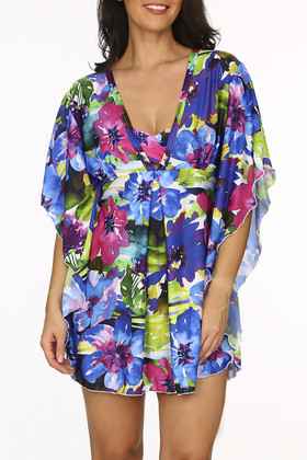 Floral Kaftan Cover Up KA-417