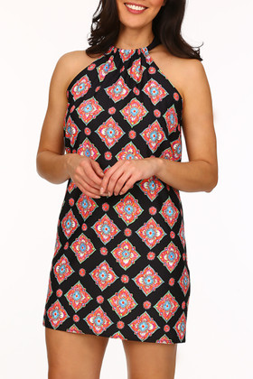 Black And Coral Cover Up MK-409