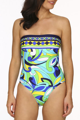 Floral Bandeau One Piece BB-314