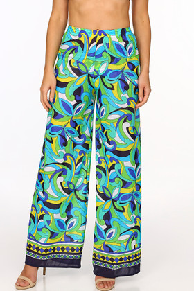 Floral Palazzo Pant Cover Up BB-410