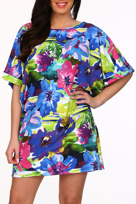 Floral Tunic Cover Up KA-435