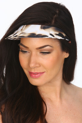 Brown And Cream  Covered Visor ZI-501