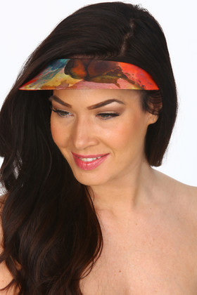 Floral Lycra Covered Visor TA-501