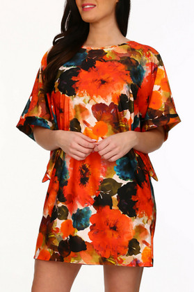 Floral Tunic Cover Up TA-435