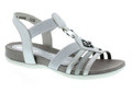 Remonte R3264-90 Womens Metallic Sandal Remonte R3264-90 Womens Metallic Sandal. This sandals features a leather sock lining for foot comfort. Elastics hugs the feet for a custom fit each time you wear them.