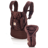 ERGO Baby Carrier Bundle of Joy - Matching Carrier and Infant Insert, Dark Chocolate