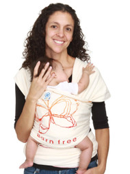 Moby Wrap Baby Carrier Born Free Design, Natural