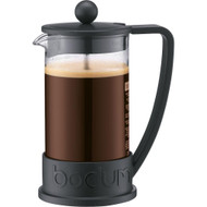 Bodum Brazil French Press 0.35-Liter 3-Cup Coffee Maker, 12-Ounce, Black