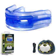 Brain-Pad LoPro+ Double Laminated Strap/Strapless Combo in one Mouthguard, Blue