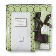 Swaddle Designs Lime with Brown Mod Circles Gift Set