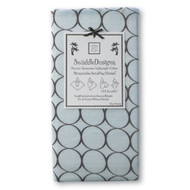 Swaddle Designs Marquisette Swaddling Blanket - Pastel Blue with Brown Mod Circles (Not Flannel)